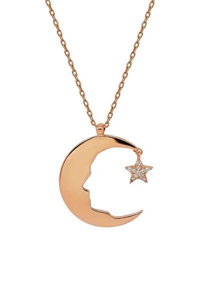 Hyde Park Hydepark Gümüş Taşlı Ay Yıldız Kolye 43k2kly0270002339