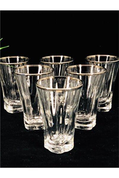 LAV Agız Platin 6'lı Kahve Yanı Bardağı Tru309