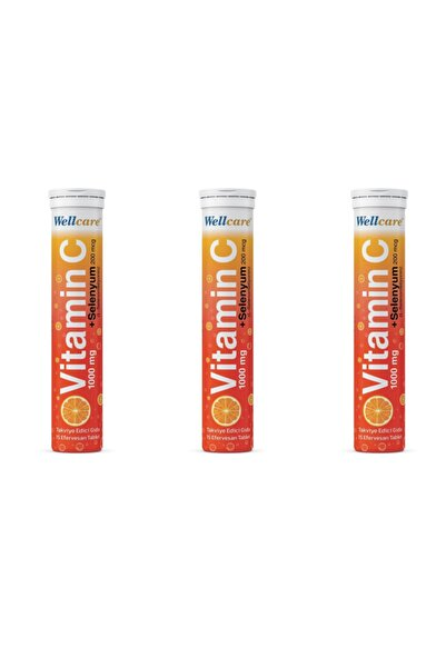 Wellcare Vitamin C 1000 Mg 15 Tablet Efervesan 3'lü Paket