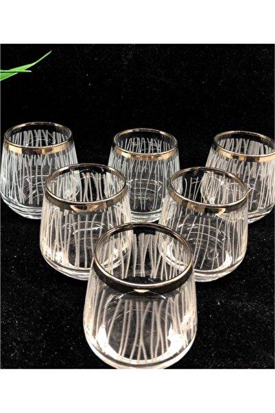LAV Platin Çizgili Kahve Yanı Bardağı Lal304