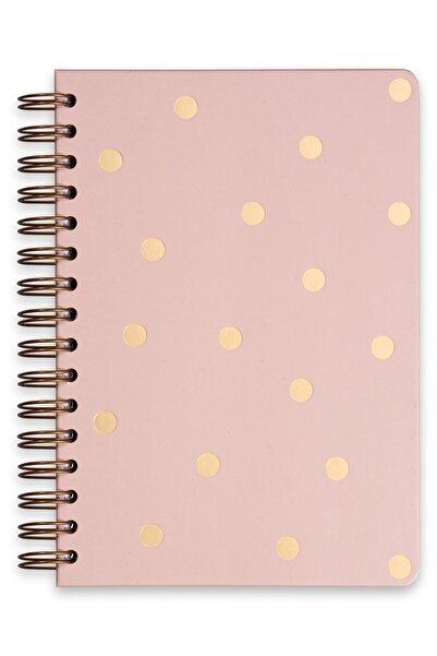 Matt Notebook A5 Süresiz Planlayıcı Ajanda Puantiye Pembe