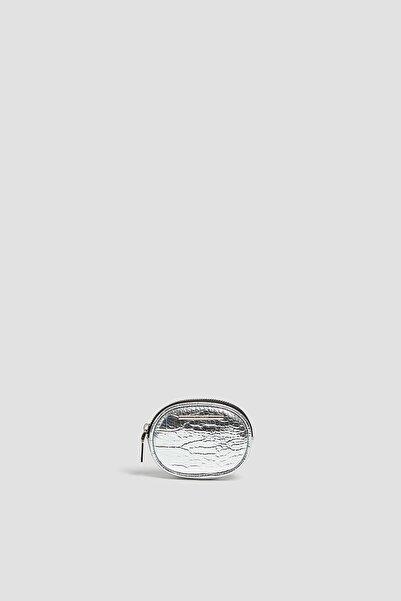Pull & Bear Metalik Timsah Derisi Görünümlü Bozuk Para Cüzdanı