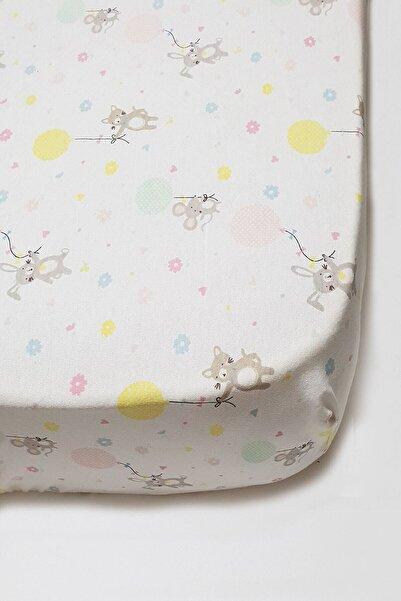 MOTHERCARE Pamuklu Ve Lastikli Confetti Bebek Çarsafı 70*140