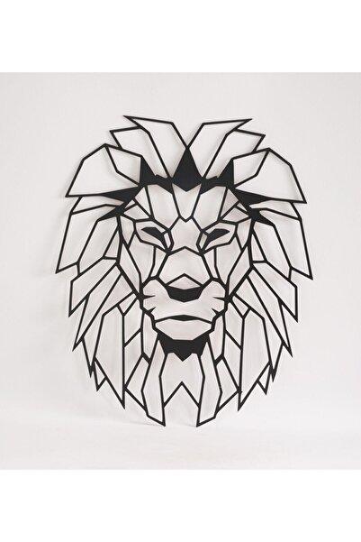 leon Sens Home Garden Aslan Başı Ahşap Gölge Duvar Tablosu