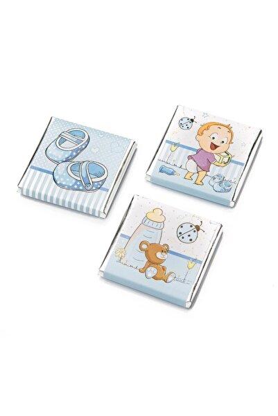 Melodi Çikolata Sargılı Sütlü Madlen Mavi 500 gr - Erkek Bebek Çikolatası