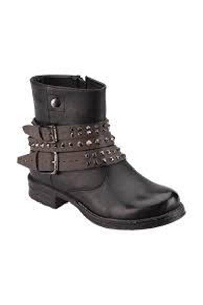 Kinetix Kadın Siyah Fermuarlı Çizme