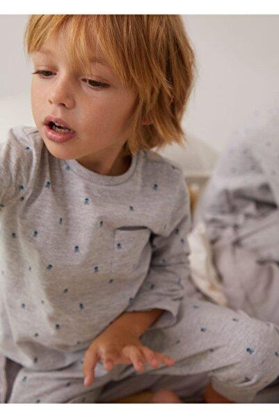 MANGO Baby Desenli Uzun Pijama
