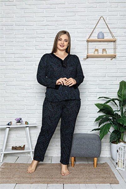 Sude Büyük Beden Kadın Bambu Pijama Takımı