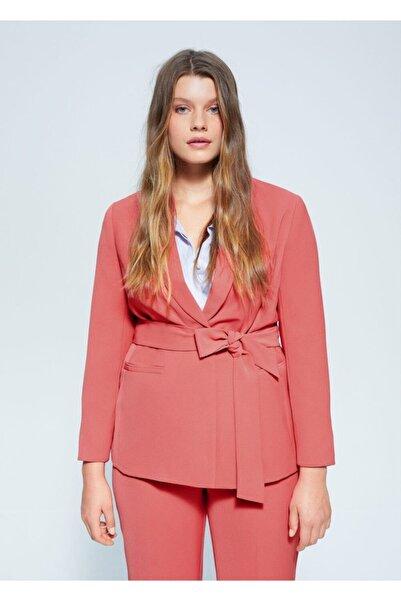 Violeta by MANGO Kadın Pembe Kalıplı Takım Blazer Ceket 67045903