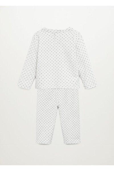 MANGO Baby Organik Pamuklu Desenli Uzun Pijama Takımı