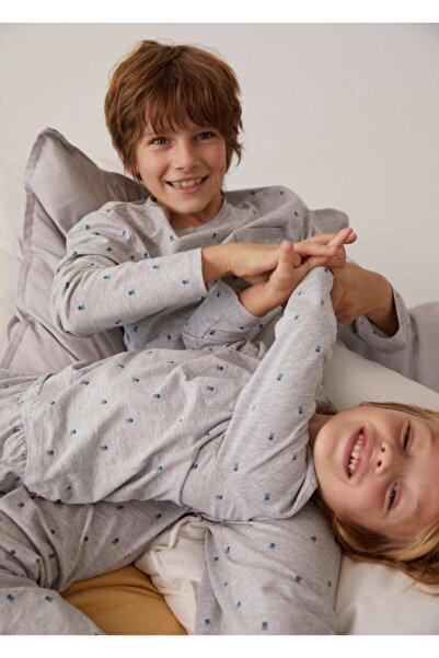 MANGO Kids Desenli Uzun Pijama