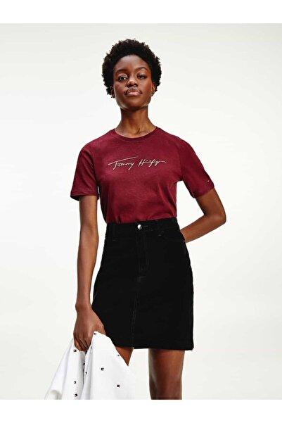 Tommy Hilfiger Icon Signature Logo Kadın Tshirt