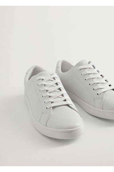 MANGO Man Monocolor Deri Spor Ayakkabı