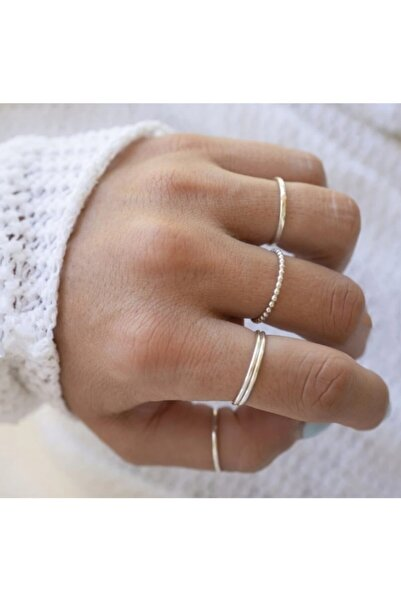 Mysoho Accessories Kadın Silver Eklem Yüzük Seti