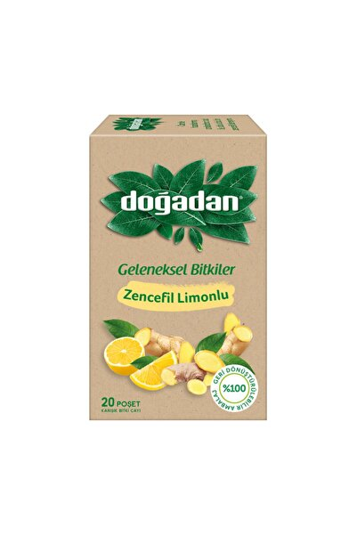 Doğadan Zencefil Limonlu Bitki Çayı 20'li