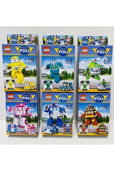 Robocar Poli Amber Helly Roy Truck Bus 6 Lı Mini Lego Figür Oyuncak