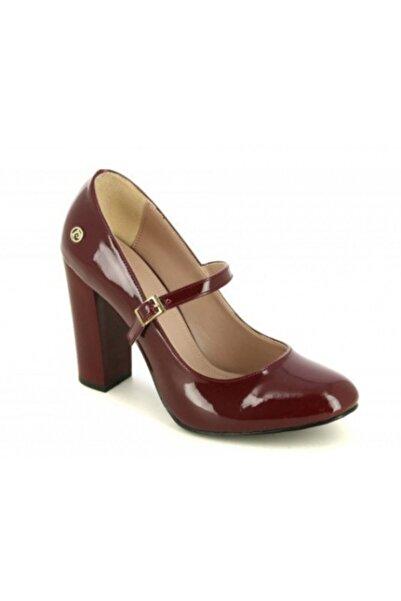 Pierre Cardin Kadın Bordo Rugan Topuklu Ayakkabı Pc-81015