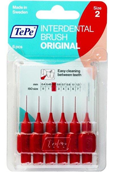 TePe Interdental Brush Diş Arası Fırçası 0.5mm No:2 - Kırmızı Blister 6'lı Paket