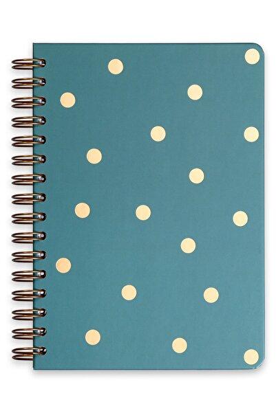 Matt Notebook A5 Süresiz Planlayıcı Ajanda Puantiye Yeşil