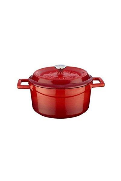 Lava Kırmızı Yuvarlak Döküm Trendy 24 Cm Tencere Lvytc24k2r
