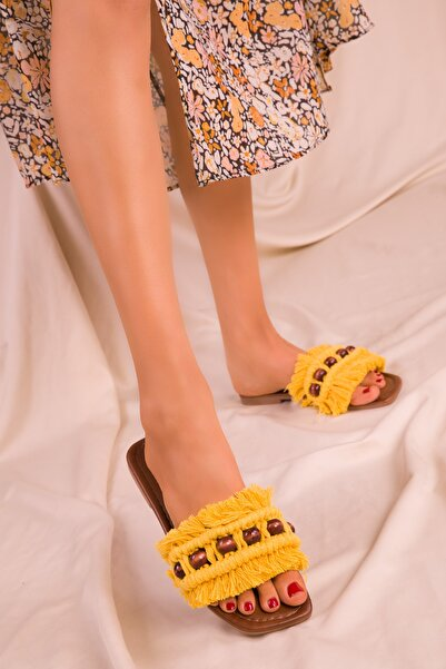 SOHO Sarı Kadın Terlik 15796