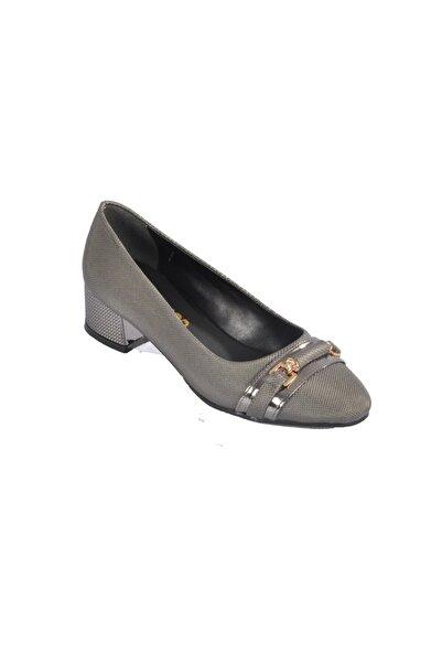 Maje 6067 Platin Kadın Topuklu Ayakkabı