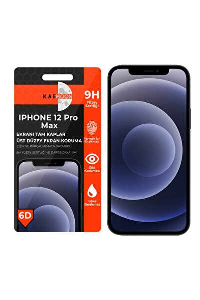 KaeMoon Iphone 12 Pro Max Uyumlu Hd Netlikte Temperli Ekran Koruyucu Cam