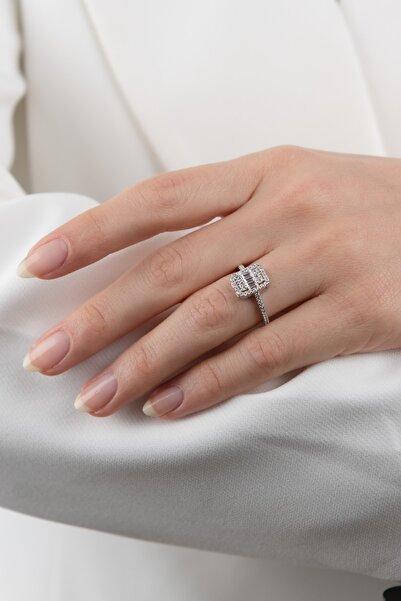 Mode Silver Baget Taşlı Gümüş Yüzük