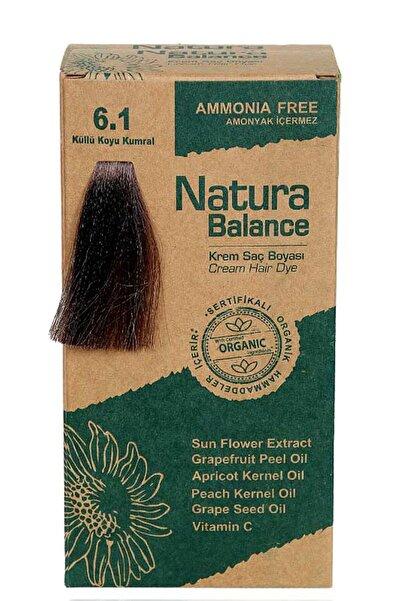 NATURABALANCE Saç Boyası - Organik Sertifikalı Küllü Koyu Kumral 6.1 8699367128018