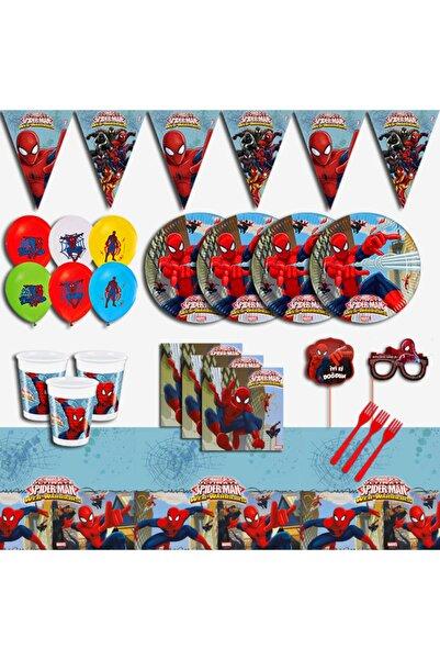 SPIDERMAN 8 Kişilik Doğum Günü Parti Malzemeleri Seti