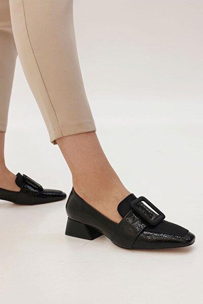 Marjin Jiyona Kadın Klasik Topuklu Ayakkabısiyah Rugan