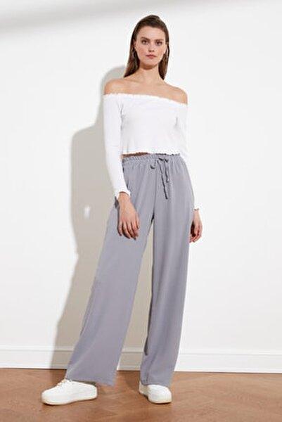 Gri Geniş Paça Pantolon TWOSS21PL0248