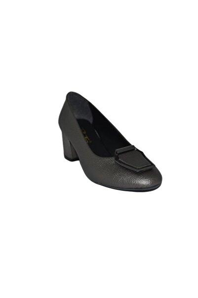 PUNTO Kadın Gri Topuklu Ayakkabı