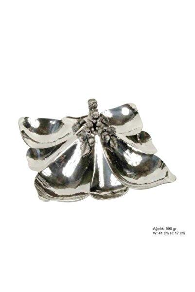 Gumush Midyatziv Sincap Desenli Gümüş Çerezlik Midyatziv