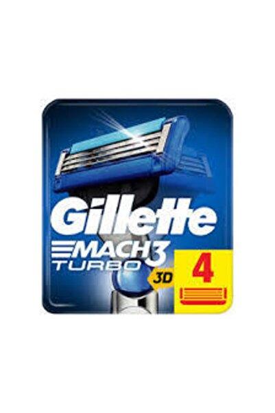 Gillette Mach3 Turbo Yedek Tıraş Bıçağı 4lü