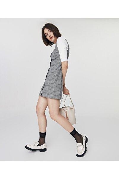 Twist Ekose Desen Mini Elbise