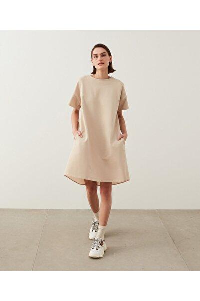 İpekyol Kumaş Mixli Penye Elbise