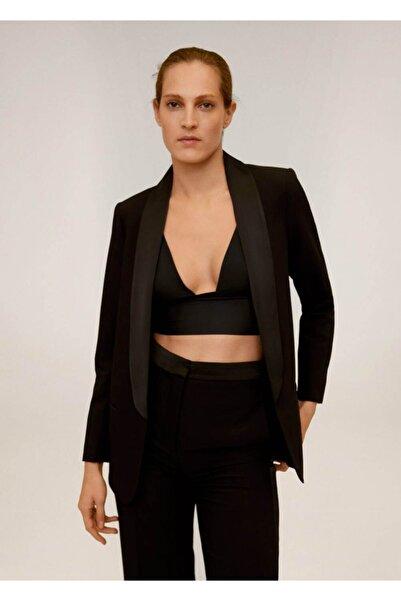 MANGO Woman Kadın Siyah Blazer Ceket