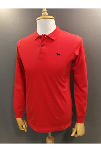 Lion Erkek Kırmızı Slimfit Baharlık Ince Pike Sweatshirt 1650
