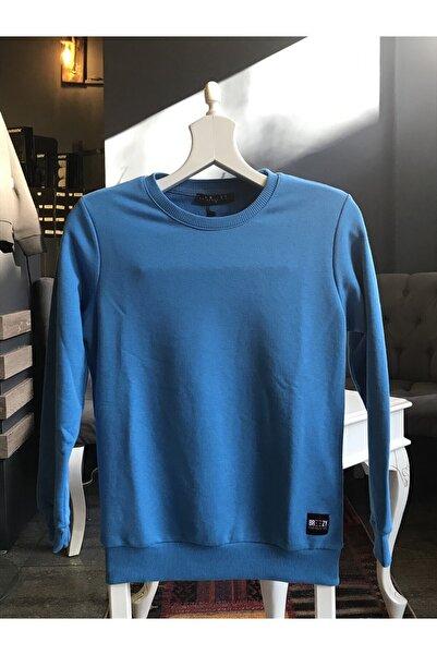BREEZY Unisex Mavi Şardonlu Sweatshirt