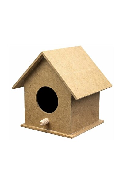Tuğra Ahşap Kuş Evi Yuvası 10x10x12cm