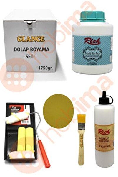 Glance Dolap Boyama Multi Surface 1750 gr Antik Beyaz Set