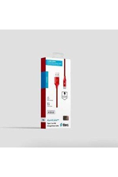 Ttec Örgü Type-c 2dk18k Kablo Kırmızı 120cm