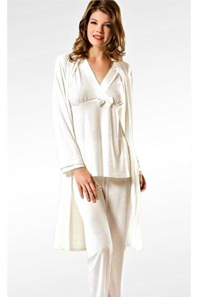 Xses Kadın 3'lü Lohusa Sabahlık Ve Pijama Takımı 2070