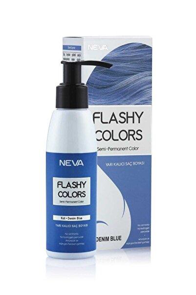 Neva Color Neva Flashy Colors Yarı Kalıcı Saç Boyası Kot - Denım Blue 8698636612654