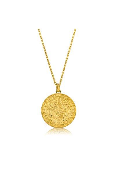 Gumush Kadın Altın Reşat Gümüş  Kolye