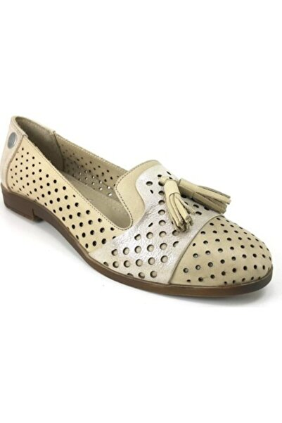 Mammamia Kadın Bej Hakiki Deri Casual Ayakkabı 005000