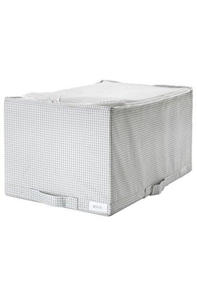 IKEA Stuk Dolap Içi Düzenleyici Kutu Beyaz - Gri ( 34x51x28 Cm )