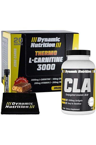 Dynamic Nutrition Dynamic Thermo L-Carnitine 3000 mg 20 Ampul + CLA 90 Kapsül + 3 HEDİYE
