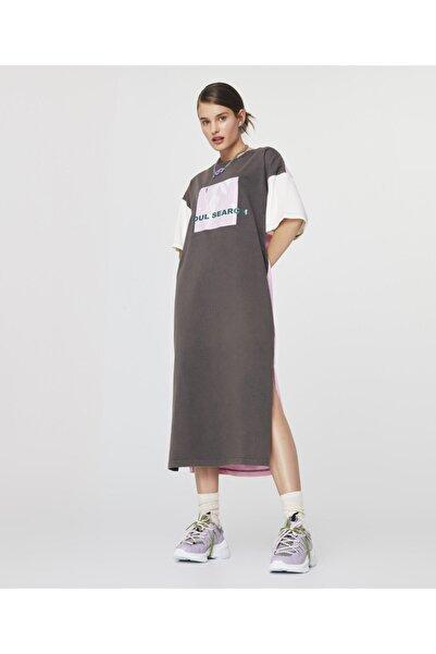 Twist Colorblock T-shirt Elbise